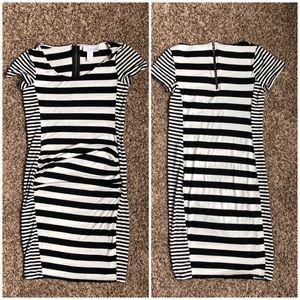Jessica Simpson Striped Maternity Dress - Small